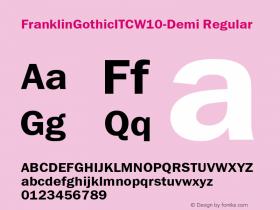 FranklinGothicITC-Demi