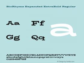 BioRhyme Expanded ExtraBold