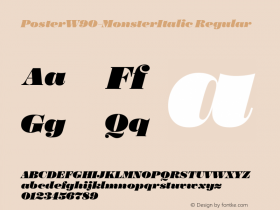 Poster-MonsterItalic
