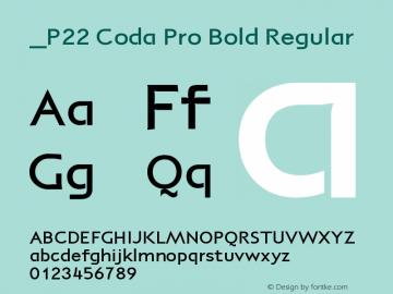 P22 Coda Pro Bold