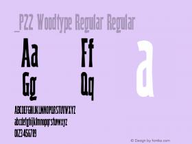 P22 Woodtype Regular