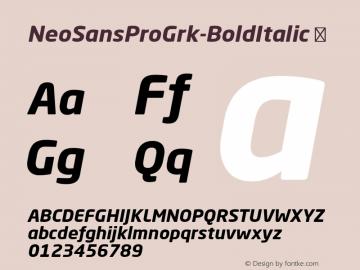 NeoSansProGrk-BoldItalic