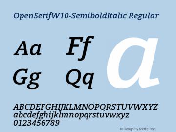 OpenSerif-SemiboldItalic