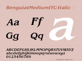BenguiatMediumITC-Italic