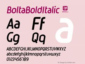 BoltaBoldItalic