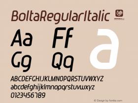 BoltaRegularItalic