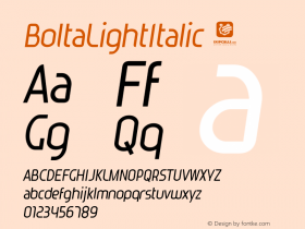 BoltaLightItalic
