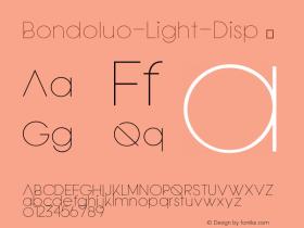 Bondoluo-Light-Disp