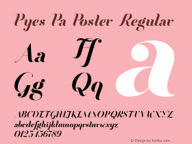 Pyes Pa Poster