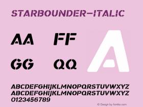 Starbounder-Italic