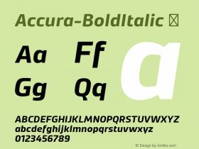 Accura-BoldItalic