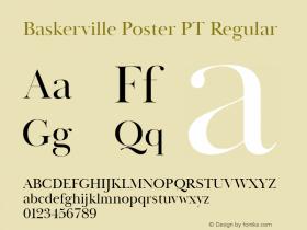 Baskerville Poster PT