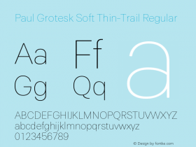 Paul Grotesk Soft Thin