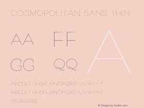 Cosmopolitan Sans