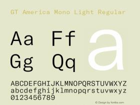 GT America Mono Light