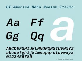 GT America Mono Medium
