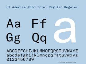 GT America Mono Regular