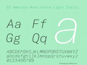 GT America Mono Ultra Light