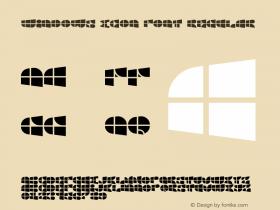 Windows Icon Font