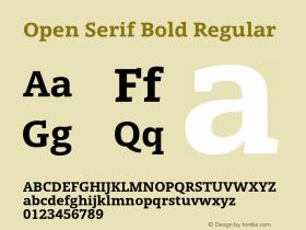 Open Serif Bold