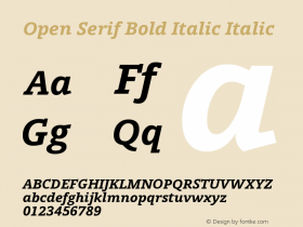 Open Serif Bold Italic