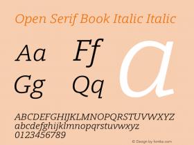 Open Serif Book Italic