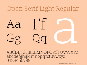 Open Serif Light