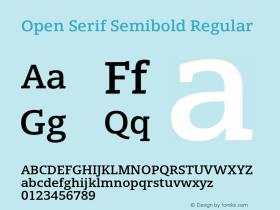 Open Serif Semibold