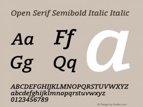 Open Serif Semibold Italic