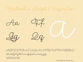 Pistacho Script 1