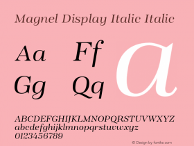 Magnel Display Italic
