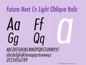 Futura Next Cn Light Oblique