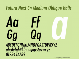 Futura Next Cn Medium Oblique