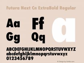 Futura Next Cn ExtraBold