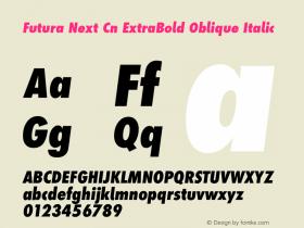 Futura Next Cn ExtraBold Oblique