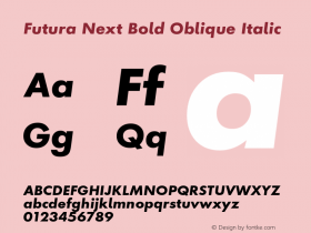 Futura Next Bold Oblique