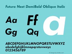 Futura Next DemiBold Oblique