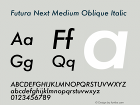 Futura Next Medium Oblique