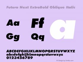 Futura Next ExtraBold Oblique