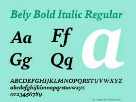 Bely Bold Italic