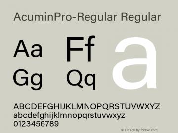 AcuminPro-Regular