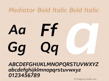 Mediator Bold Italic