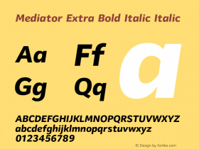 Mediator Extra Bold Italic