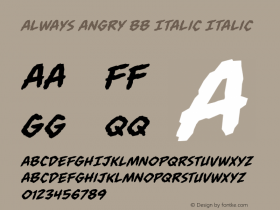 Always Angry BB Italic