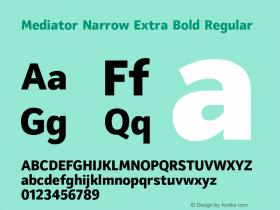 Mediator Narrow Extra Bold