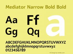 Mediator Narrow Bold
