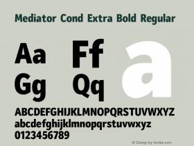 Mediator Cond Extra Bold