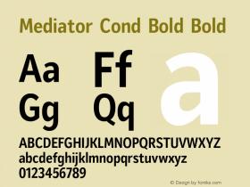 Mediator Cond Bold