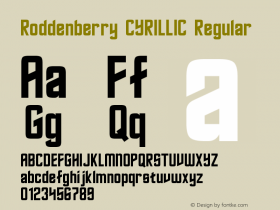 Roddenberry CYRILLIC