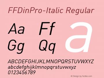 FFDinPro-Italic
